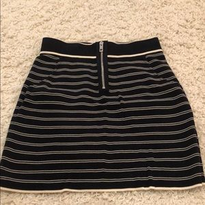 Rag and Bone Striped Skirt with Zipper